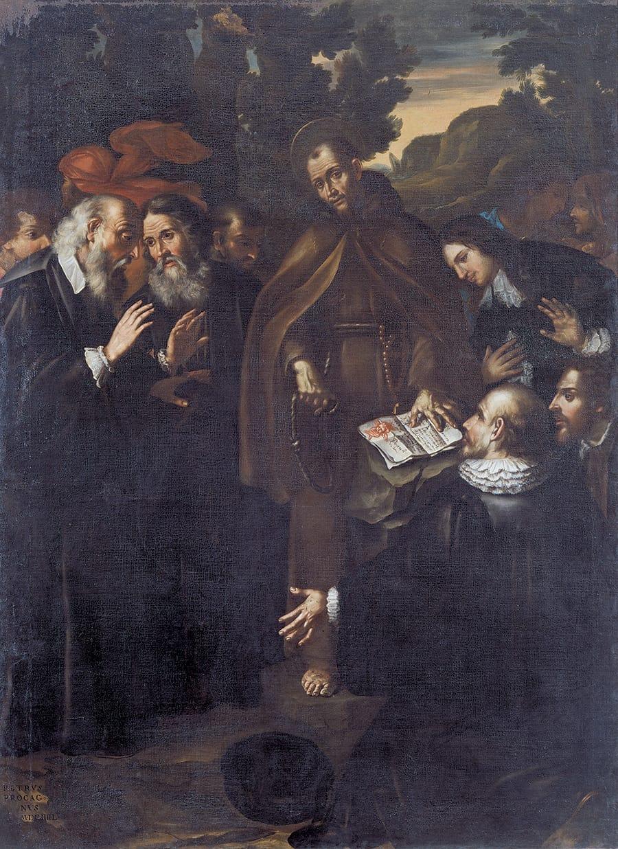 Museo di Sarnano: Pietro Procaccini, San Francesco disegna lo stemma