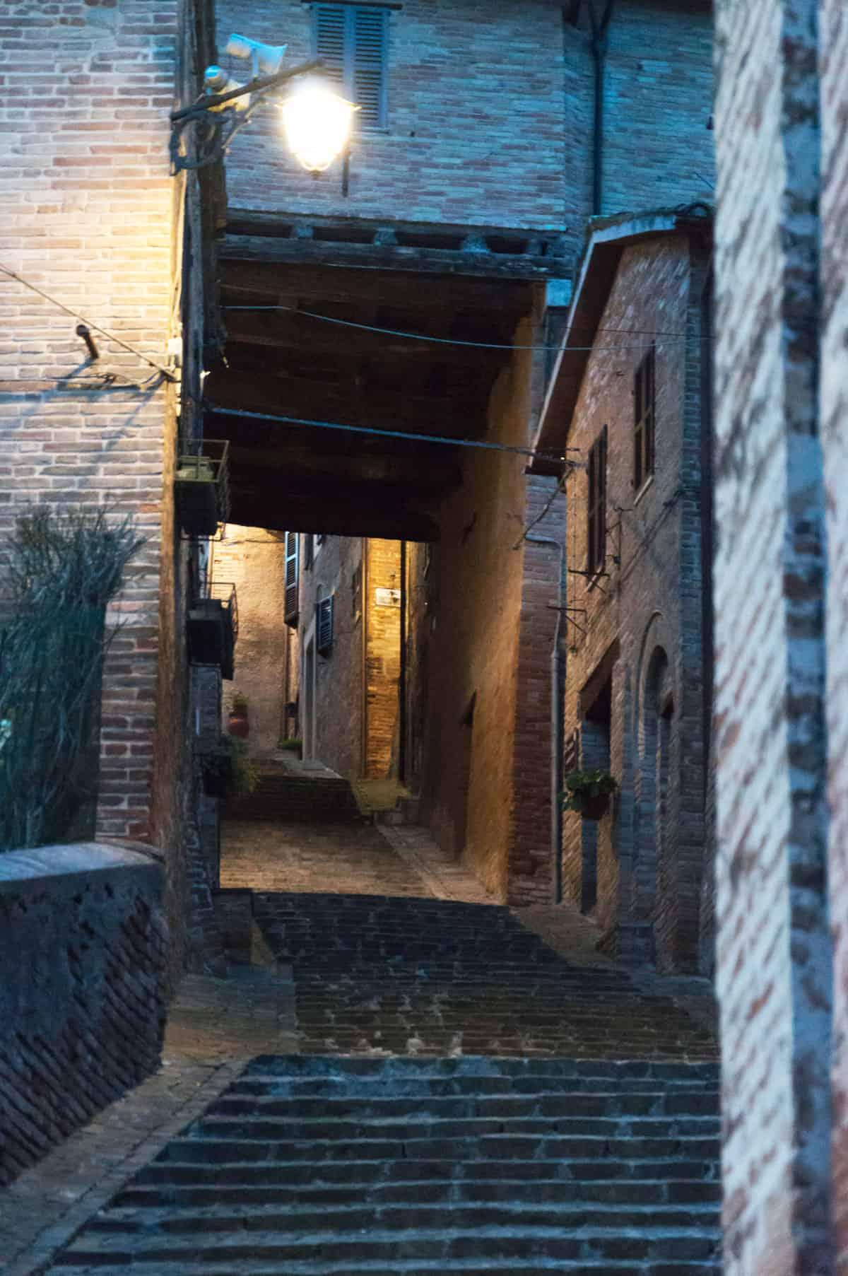 Centro storico di Sarnano, via della Costa