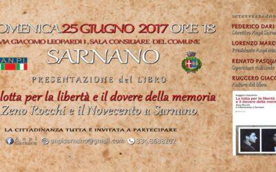 """L'ANPI Sarnano presenta il libro """"La lotta per la libertà e il dovere della memoria"""""""