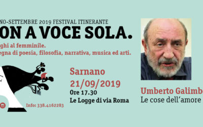 Umberto Galimberti a Sarnano sabato 21 settembre