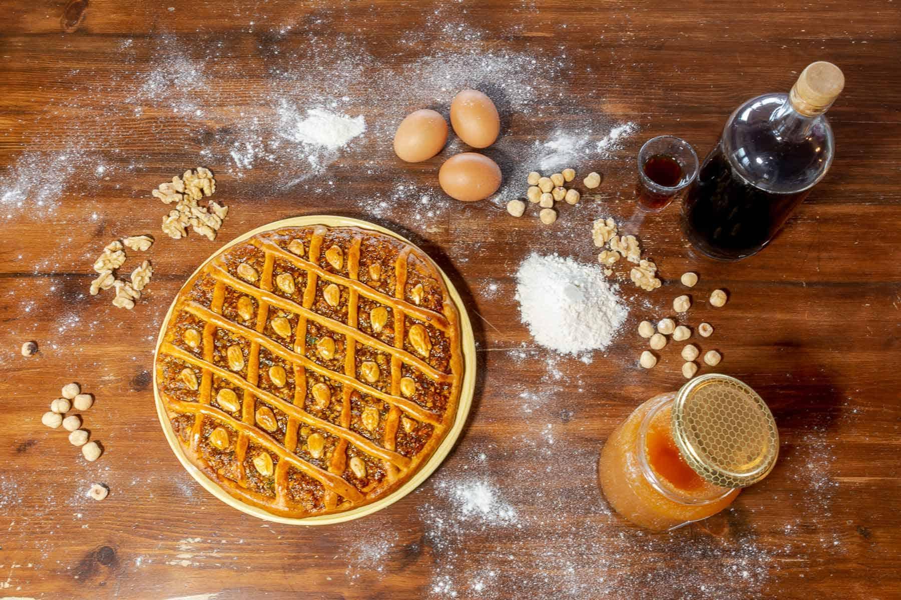 La crostata al torrone di Sarnano - Foto di Enrico Ortolani
